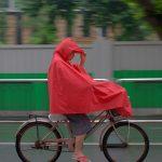 Riding under the rain