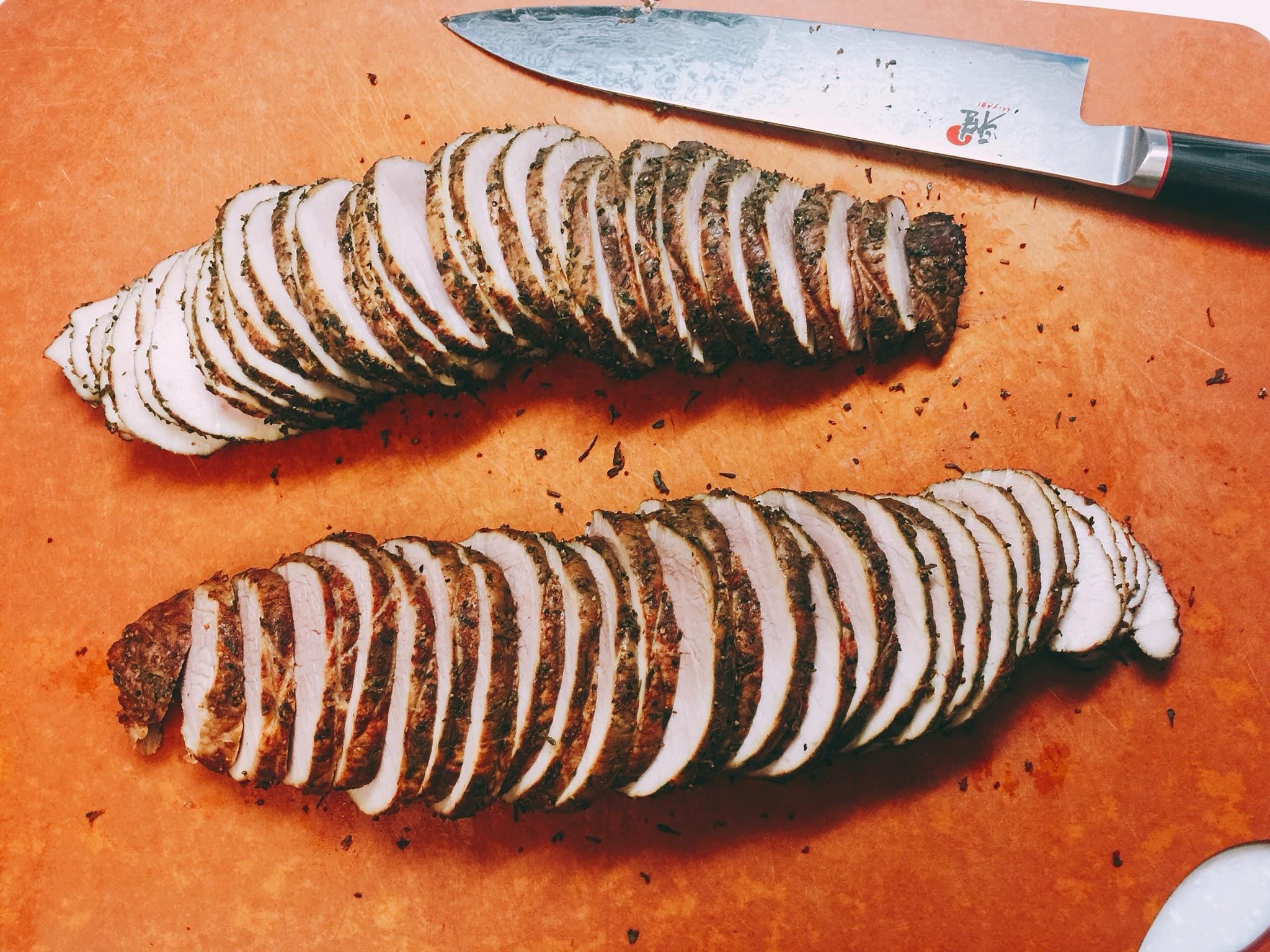 寶刀果然銳利,將肉汁的損失減到最低